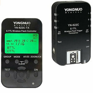 YONGNUO YN622C II Kit Wireless iTTL Flash Trigger Kit LED Screen Canon YN622C-TX