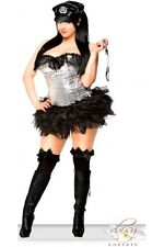 Sexy Fetish 4 Pc Sequin Naughty Officer Cop Womens Adult Bedroom Costume