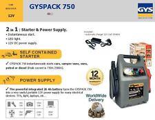 GYS BATTERY BOOSTER STARTER + POWER SUPPLY 2 IN 1 750A 12V 1450A CAMPER VANS