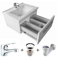 Badmöbel Set 50cm Waschbecken mit Unterschrank Waschtischunterschrank Badezimmer