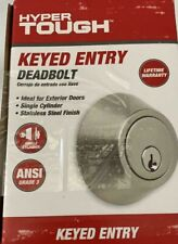 New, Keyed Entry Single Cylinder Deadbolt, Stainless Steel, Free Shipping