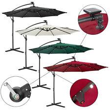 Sonnenschirm Luxus Ampelschirm Gartenschirm LED Beleuchtung Ø3m Wasserabweisend