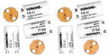 10 x Supalec Fluorescent Light Starter Switches Switch 4-65W 220-240v
