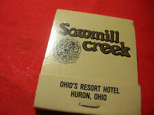 SAWMILL CREEK Ohio Resort Hotel Restaurant Matchbook  Advertising Matches