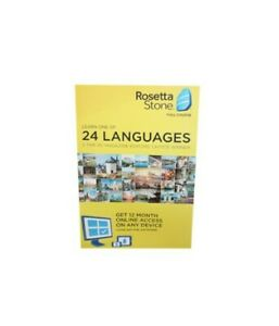 Rosetta Stone Learn a Language 1 of 24 Languages for 1 Year iOS Android PC Mac