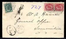 Tignish Pei split ring Registere Maple Leaf 1899 cover Canada