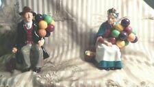 Royal Doulton The Old Baloon Seller Woman Hn 1315 And The Baloon Man1954