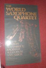 World Saxophone Quartet POSTER ANN ARBOR