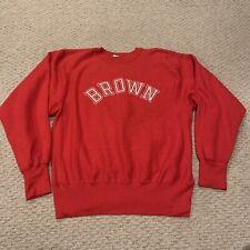 VTG Brown University Bears Reverse Weave Champion Crewneck Sweatshirt Mens Large