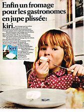 PUBLICITE ADVERTISING  1969   KIRI  fromage pour jupe plissée