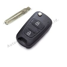 For Hyundai Verna 3 button remote flip key fob case shell with blank blade