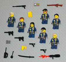 LEGO Minifigures 7 Agents Soldiers Army Machine Gun Weapons Guys Minifigs People