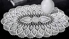 Vintage Crochet Oval Pineapple Doily Pattern Only