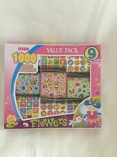 Over 1000 Stickers - Flowers - 9 Sheets - NEW