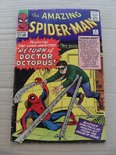 Amazing Spider-Man 11.1st App Bennett Brant . 2nd Doc Octopus .Marvel 1964 .VG +