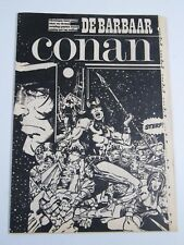 "Conan The Barbarian Comic Book Dutch-""De Demonen""  Black and White"