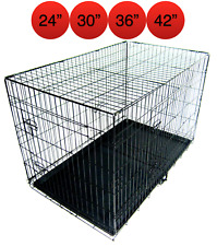 Folding Metal Dog Cage By Mr Barker Puppy Training Crates 4 sizes 24-42 Inch