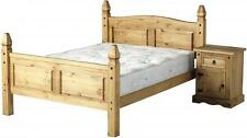 CORONA MEXICAN PINE 4FT6 DOUBLE BED FRAME | WOODEN PINE CORONA BED BASE SET