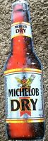 """MICHELOB Dry Tin Metal  Beer Bar Sign .     30"""" x 8.5""""   Great!"""