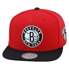 Mitchell & Ness Brooklyn Nets Snapback Hat RED/BLACK For jordan 9 low foamposite