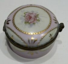 Belle Petite BOITE À BIJOUX en Porcelaine