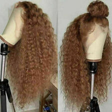 Luxury Lace Front Remy Curly Strawberry Blonde Auburn Full Lace Human Hair Wig