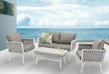Outdoor Lounge set Aluminium with Thick rope features