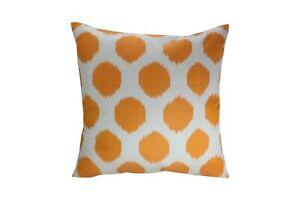 Orange dot Ikat Pillow, Ikat Pillow Cover IP400, Ikat throw pillows