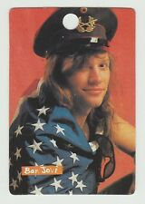 1980s UK Pop Star Card US Bon Jovi Singer Jon Bon Jovi draped in stars & stripes