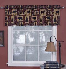 "Cabin Pine Retreat Lodge Tapestry Window Valance, Modern Rustic 54""x16"" - NEW"