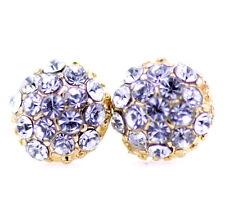 Gold tone crystal ball stud earrings