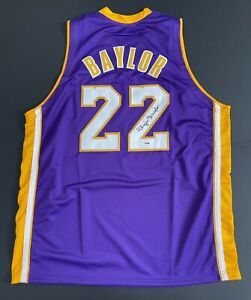 Elgin Baylor Signed Los Angeles Lakers Jersey PSA 6A43399