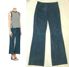 """MALO ITALY """"CASUAL LUXE"""" SUPER SOFT RELAXED BLUE SUEDE PANTS $2,755 I-38 / US-2"""