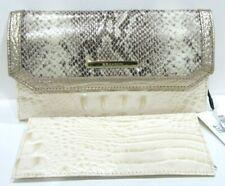 Brahmin Soft Checkbook Wallet Sunglow Dakota Embossed Leather NWT $195