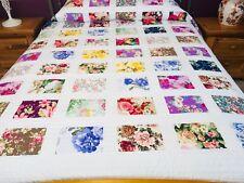 Queen  size Hawaiian style machine pieced patchwork quilt #NJ-65