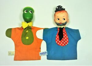 COLLECTIBLE -2 RARE 60s KNICKERBOCKER HAND PUPPETS- TOMMY TRAMP & JIMINY CRICKET