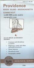 USGS Topographic Map PROVIDENCE Rhode Island MA CT -1984- 100K -