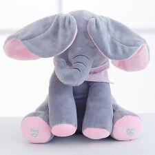 Baby Peek-a-boo Cute Elephant Plush Toy Singing Stuffed Animated Soft Toy
