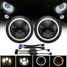 Pair 7Inch Round 120W LED Headlights Hi/Lo 97-18 For JEEP JK TJ LJ Wrangler