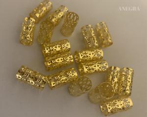 100 Long Gold Adjustable Braid Cuffs For Braids & Dreadlocks | Braid Decorations