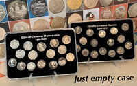 1988-2019 Gibraltar 50p Christmas Coin Empty Display Case + Stand (No Coins)