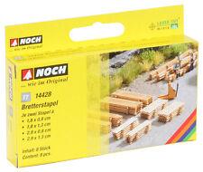 """Noch 14428 - TT 1:120 - Laser-Cut minis """" Boards Stack,8 Stack """" - New Original"""
