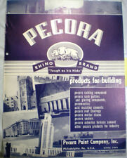 PECORA Building Products Catalog ASBESTOS Furnace Cement 1950's