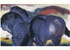 Kunstkarte: Franz Marc - Die kleinen blauen Pferde