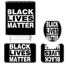 BLACK LIVES MATTER Shower Curtain Bath Rug Bath Mat Non-Slip Toilet Lid Cover
