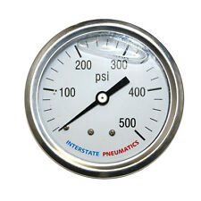 """Oil Filled Pressure Gauge 500 PSI 2-1/2"""" Dial 1/4"""" NPT Rear Mount - G7122-500"""