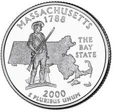2000P Massachusetts State Quarter BU