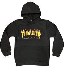 Thrasher Skateboards Magazine Hoodie Pullover Skate Black YOUTH / KIDS MEDIUM