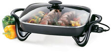 16 Non-stick Electric Skillet/ Buffet Server With Glass Cover, Fully Immersible