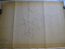 ROMA Mappa Catastale n.801 Via Magliana Tevere S. Passera dei Grottoni 1943 c